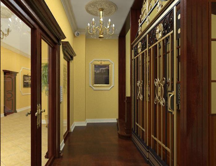 lustro na korytarzu